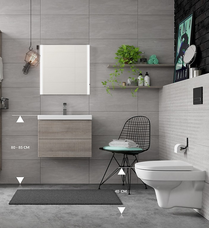 Ergonomics in the bathroom / Inspirations and tips / Cersanit