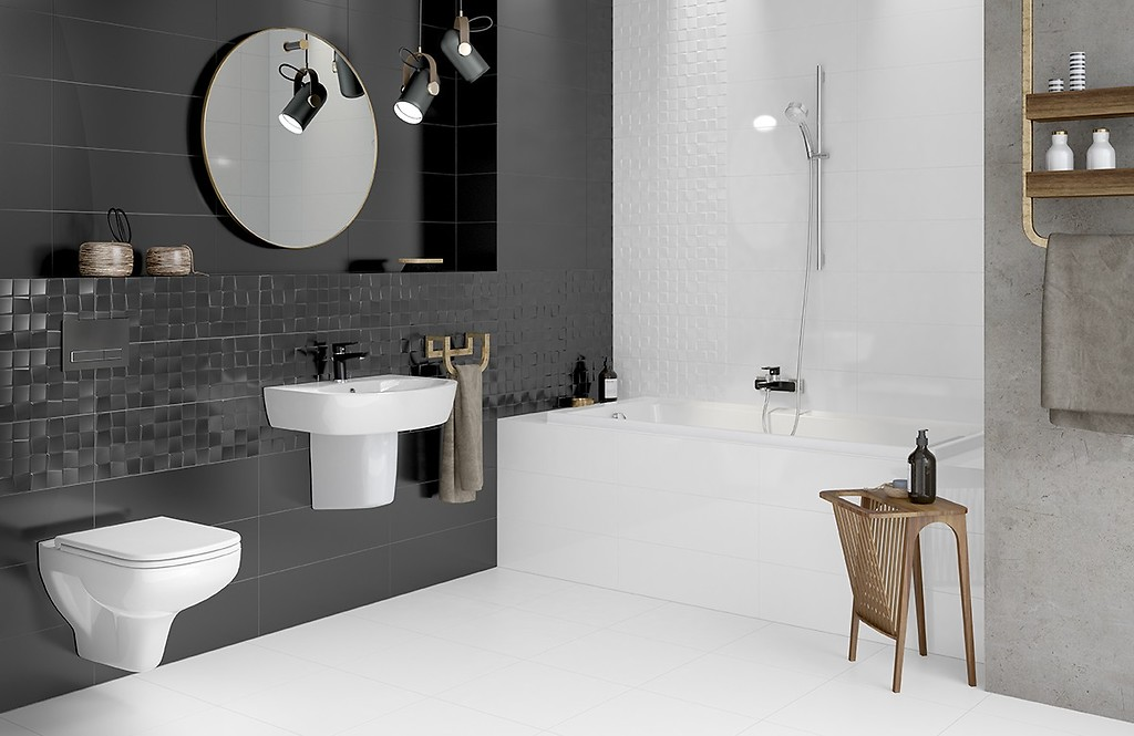 White Or Black Which Color Will Work Better Inside A Bathroom Inspirations And Tips Cersanit
