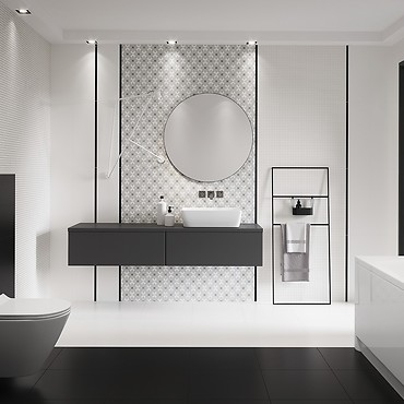 White or black — which color will work better inside a bathroom?