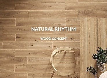 Wood-inspired ceramic tile concepts