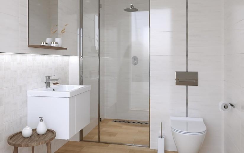 White Kitchen Grey Wood Floor