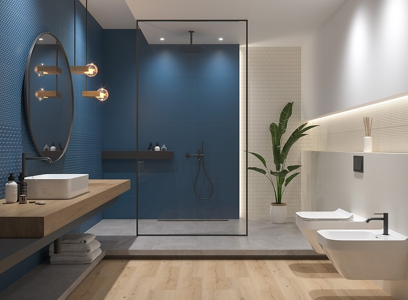 Small Bathroom Decor Blue