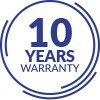 10 YEAR WARRANTY ON ALL ELEMENTS OF THE SYSTEM