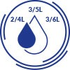 ECONOMICAL FLUSHING - FLUSH VOLUME REGULATION 2/4L OR 3/5L OR 3/6L