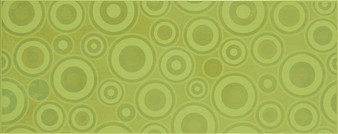 SYNTHIA green inserto circles 20 x 50