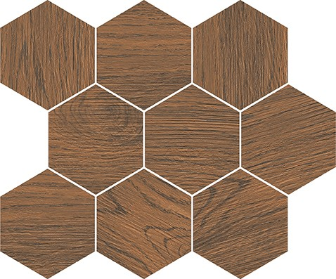 FINWOOD ochra mosaic hexagon 28x33,7