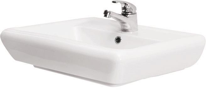 Ceramic Washbasin Sink Bathroom Patch Washbasin Wall Mounting 50//55//60