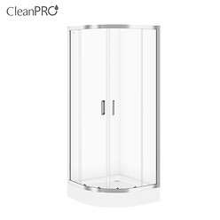 SET B97: ARTECO halfround shower enclosure 90 x 190 with TAKO shower tray 90 x 16