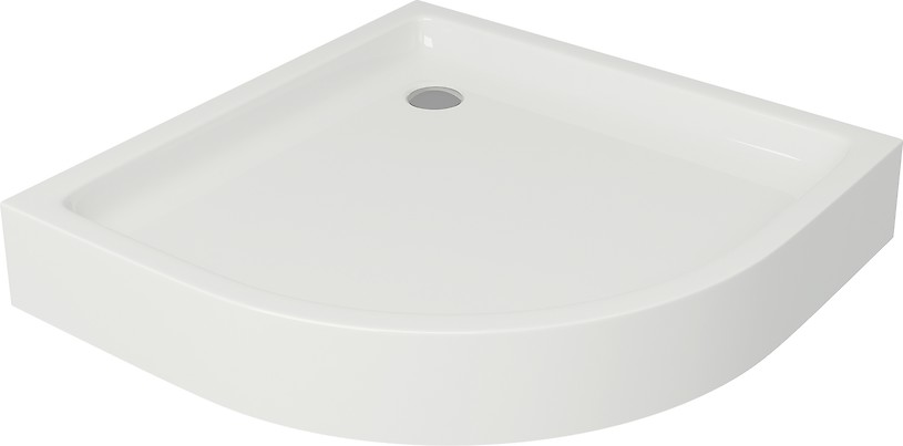TAKO shower tray halfround 90 x 16 built-in-panel