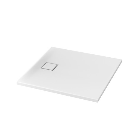SET B187: TAKO SLIM shower tray square 90 x 90 x 4 with siphon