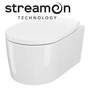 SET B252 INVERTO StreamOn wall hung bowl with duroplast toilet seat
