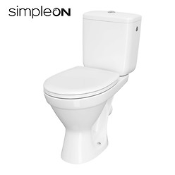 CERSANIA II WC compact 698 SimpleOn 010 with duroplast toilet seat
