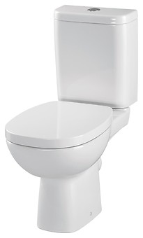 FACILE 010 WC compact set with FACILE duroplast, antibacterial toilet seat