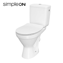CERSANIA II WC compact 699 SimpleOn 010 with duroplast SLIM toilet seat