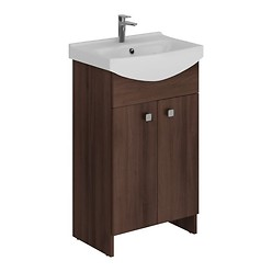 SET 606 SATI CERSANIA 50 BROWN FOR SELF-ASSEMBLY (CABINET + WASHBASIN)