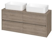 CREA 120 washbasin cabinet with countertop oak