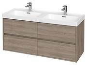 CREA 120 washbasin cabinet oak