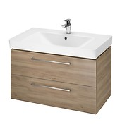 SET B349 LARA MILLE 80 WALNUT DSM (CABINET + WASHBASIN)