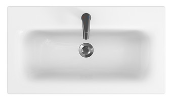 MODUO 80 washbasin in a counter