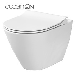 CITY OVAL wall hung bowl CleanOn with hidden fixation without toilet seat