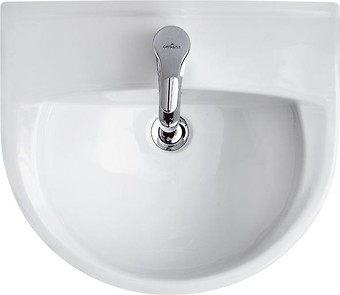 PRESIDENT 50 washbasin with hole for mixer