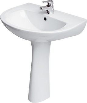 PRESIDENT 60 washbasin with hole for mixer