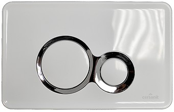 OTTO flush button white with glossy chrome inserts