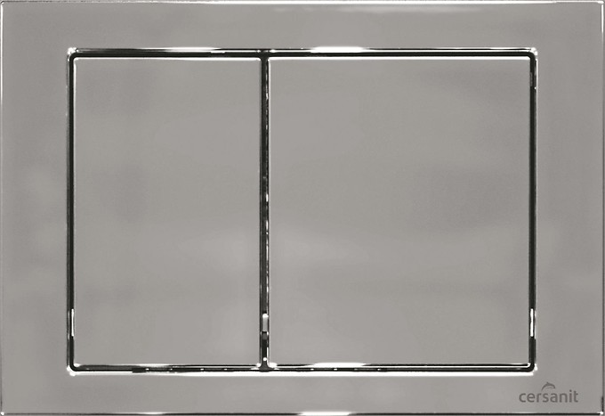CUBE flush button chrome gloss