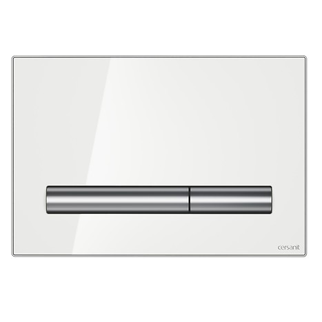 PILOT flush button white glass