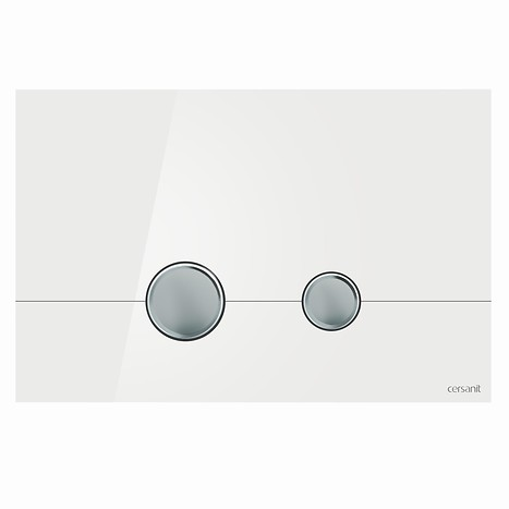 STERO flush button white glass