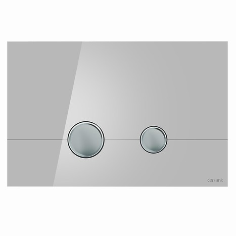 STERO flush button grey glass