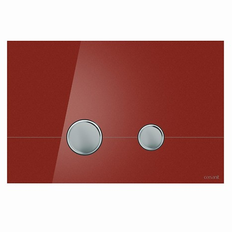STERO flush button red glass