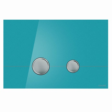 STERO flush button azure glass
