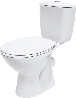 PRESIDENT 010 WC compact set with duroplast, antibacterial toilet seat