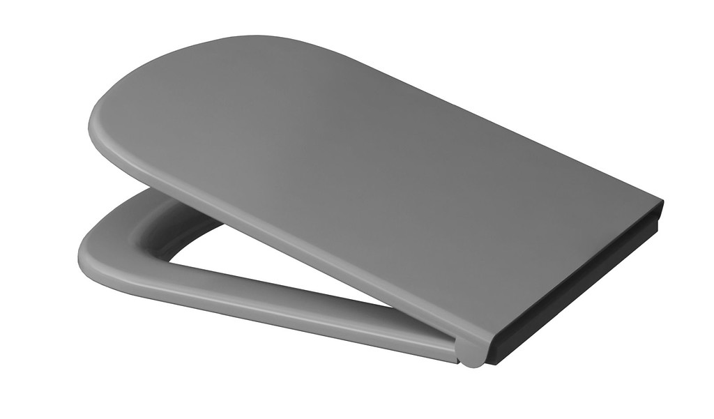 Wondrous Colour Grey Duroplast Soft Close And Easy Off Toilet Seat Ibusinesslaw Wood Chair Design Ideas Ibusinesslaworg