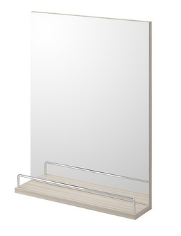 SMART mirror with shelf light ash