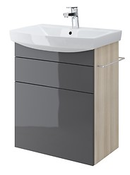 SMART cabinet for CARINA 60 washbasin grey front