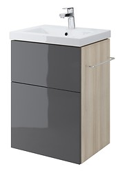 SMART 50 washbasin cabinet grey front