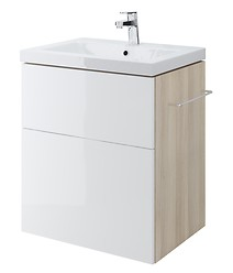 SMART 60 washbasin cabinet white front