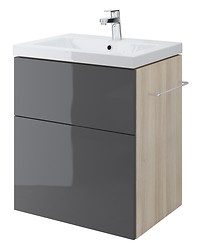 SMART 60 washbasin cabinet grey front