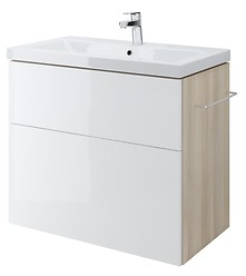 SMART 80 washbasin cabinet white front