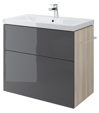 SMART 80 washbasin cabinet grey front