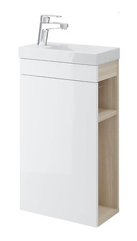 SMART cabinet for COMO 40 washbasin white front