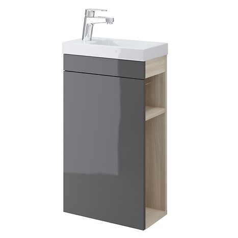 SMART cabinet for COMO 40 washbasin grey front