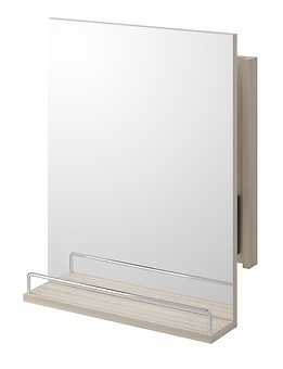 SMART extendable mirror with shelf light ash