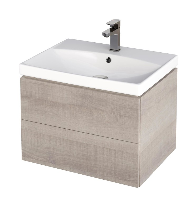 City 60 Washbasin Cabinet Grey Oak S584 004 Washbasin Cabinets