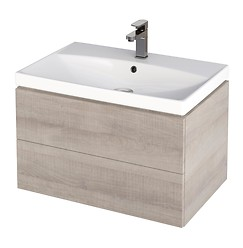 CITY 70 washbasin cabinet grey oak