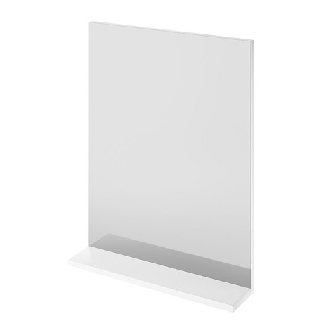 MELAR mirror with shelf white