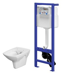 HI-TEC WC frame with CARINA CleanOn wall hung bowl