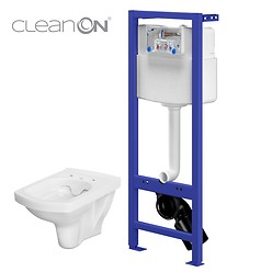 HI-TEC WC frame with EASY CleanOn wall hung bowl